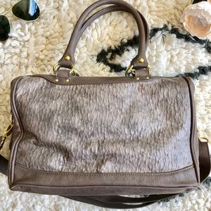 🌟Steve Madden Faux Ostrich Satchel Taupe🌟